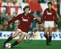 Foto Autografo Calcio Franco Baresi Milan Asta di Beneficenza Soccer Coa Signed