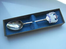SILVER PLATED QEII SILVER JUBILEE SPOON 1977 - ORIGINAL BOX    #