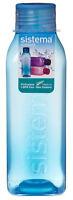 Sistema Square 725ml Drink Bottle Blue Water Juice School Sport Gym BPA Free New
