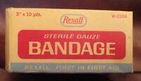 REXALL Sterile Gauze Bandage Box medical print advertising antique