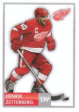 16/17 PANINI NHL STICKER DRAWING #69 HENRIK ZETTERBERG RED WINGS *24743