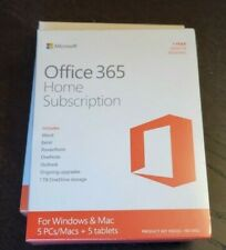 New Microsoft Office 365 Home PC Mac Tablet 1 Year Subscription