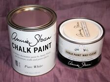 New! ANNIE SLOAN Chalk Paint Pure White 32 oz. & Clear Wax 16.9 oz. NEVER Opened