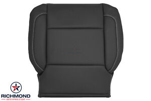 2015-2016 Chevy Tahoe Suburban LTZ - Driver Side Bottom Leather Seat Cover Black