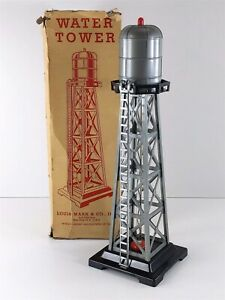 MARX Vintage 0465 Bubbling Water Tower in Original Box Marlines O Scale