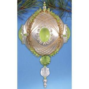 Design Works Peridot Green Beaded Ornament Kit ~ NEW in Box