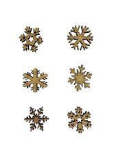 20x Mixed Snowflakes Christmas 2cm Wood Craft Embelishments Laser Cut Shape MDF