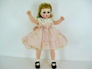 """Vintage Madame Alexander Kelly Doll 11"""" Blond With Tagged Dress"""