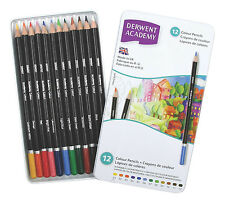 Derwent Academy Colored Pencils, 2.9mm Core, Metal Tin, 12 Count