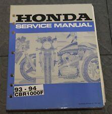 NOS OEM Honda Service Shop Manual NEW 93-94 CBR1000F CBR 1000 F