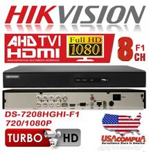 HIKVISION DVR 8 CH + 2 IP TVI-AHD-IP 7208HGHI-F1  H264+/720/1080P lite (No Disk)