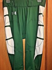 UNDER ARMOUR NWOT Men's Authentic Game Football Green Silver Pant Size Large