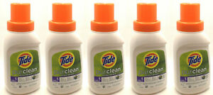 5 TIDE PURCLEAN PLANT BASED LAUNDRY DETERGENT TRAVEL SIZE 10 OZ NEW