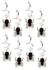 8 x spirale Halloween Appeso Ragno SPIRALI DECORAZIONI a buon mercato Value Pack GRATIS P&P