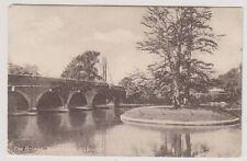 London postcard - The Bridge, River Colne, Uxbridge - P/U 1911