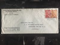 1942 American Consulate  In Mozambique Diplomatic Cover To New York USA