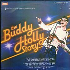 Gary Busey THE BUDDY HOLLY STORY Oscar-winning film soundtrack LP '79 J.Renzetti