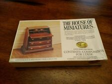 House of Miniatures Doll Furniture Xacto Chippendale Slant Front Desk 40042 Kit