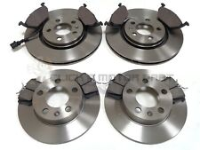 VW NEW BEETLE 1.4 1.6 1999-2009 FRONT & REAR BRAKE DISCS AND PADS CHECK SIZE