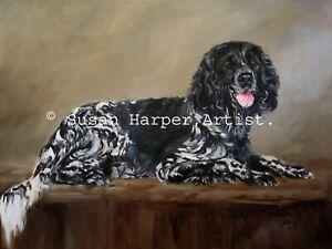 SALE Large Munsterlander Signed Dog Print by Susan Harper Unmounted