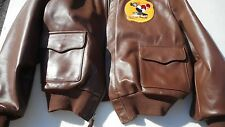 A-2 Leather Flight Jacket 48 MFG Flight Suits/Gibson & Barns 334th Ft Sg 8th AFh