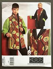 FF Vogue womens sewing pattern Designer KOOS 2709 Reversible Jacket, Sz L, XL