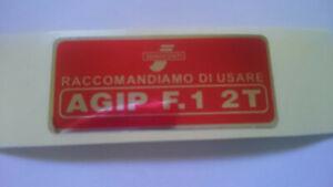Lambretta Petrol Tank Flap Sticker RED 1966-on Great Quality