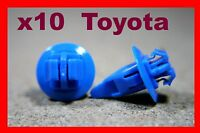 10 Toyota bumper fender front rear clip retainer fastener moulding blue