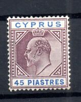 Cyprus KEVII 1904-10 45pi mint MNH SG71 WS16731