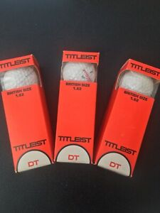 ACUSHNET VINTAGE TITLEIST DT GOLF BALLS X9,RARE RED WRITING 1.62 NEW,COLLECTABLE
