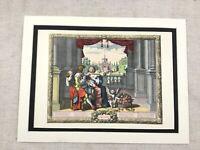 Hand Farbig Aufdruck Französisch Abraham Bosse The Four Seasons Feder Le