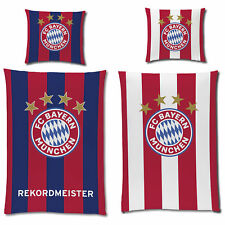 Linon Bettwäsche FC Bayern München REKORDMEISTER Glow in The Dark 135x200 80x80