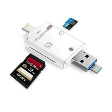 iOS Card Reader External Dual Storage iFlash Device for Lightning to USB Micr...