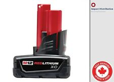 NEW Genuine Milwaukee 12 Volt 48-11-2402 M12 XC Red Lithium Ion Battery 3.0Ah