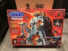 Captain Power 1987 Vintage Power Base Factory Sealed Box With Shipping Box Rare!