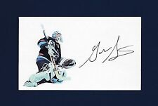Garth Snow signed hockey index card