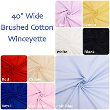 Plain Winceyette Soft Flannelette 100% Brushed Cotton Dress/ Craft Fabric