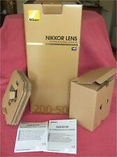 *** *** solo caja/embalaje para Nikon Nikkor AF-S 200-500mm f/5.6E ED VR