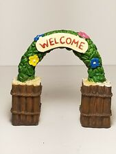 "4"" tall garden gnome fairy welcome archway"