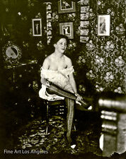 Bellocq photo of Storyville prostitute seated in room, New Orleans, 1910-1915