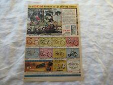 1965 CCM bike bicycle baseball glove magazine print ad