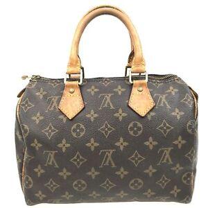 100% Authentic Louis Vuitton Monogram Speedy25 Handbag M41528 [Used] {05-038C}