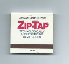 "Mason Dixon Lines, Inc. 1 book of matches ""Zip Tap technologically by zip codes"""