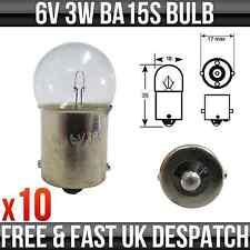 6V 3W BA15S MOTORBIKE / MOPED SIDE / TAIL BULB - P200 *PACK OF 10*