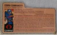 Vintage Hasbro GI Joe ARAH Cobra Commander V1 File Card