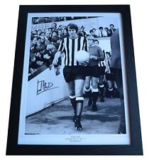 Frank Clark Signed Autograph 16x12 framed photo display Newcastle Utd AFTAL COA