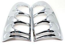 Chrome Rear Tail Light Lamp Covers fits Toyota Hilux Vigo MK6 2005 - 2010