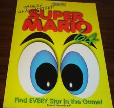 SUPER MARIO 64, TOTALLY UNAUTHORIZED STRATEGY GUIDE, BRADY GAMES, 1996