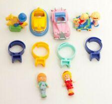 Vintage Polly Pocket Ring Lot 4 Ring Sets Bumper Car Sports Car Pram and Baby Po
