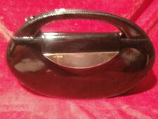 Blogger True Vintage 70er Henkeltasche Tasche Clutch schwarz Lackleder NOVABELL